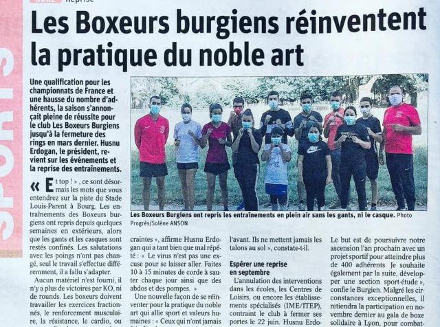 Les boxeurs Burgiens, club de boxe à Bourg-en-Bresse, réinventent la pratique du Noble Art