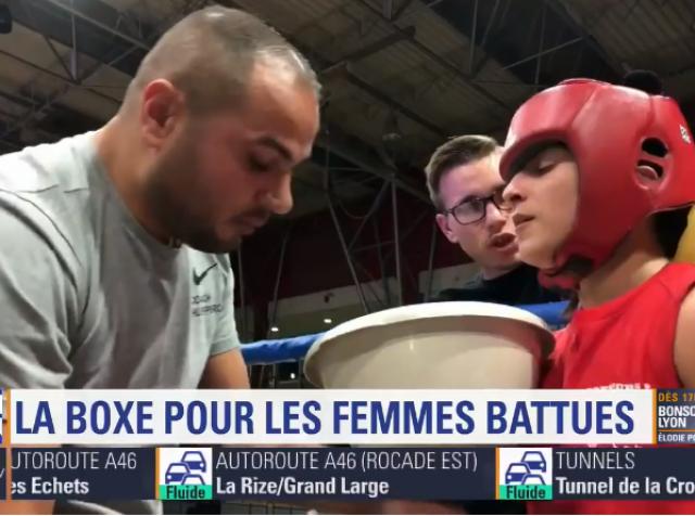 Les Boxeurs Burgiens sur BFMTV LYON : la boxe pour les femmes battues