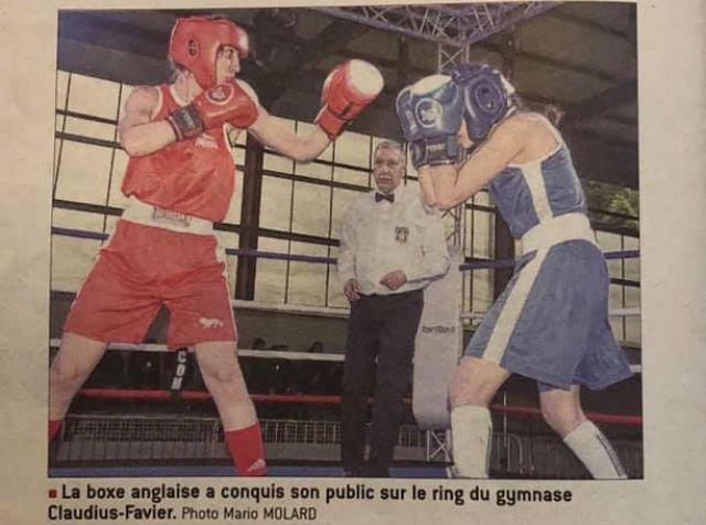 Les boxeurs du club de boxe les Boxeurs Burgiens ont défendu les couleurs bressanes